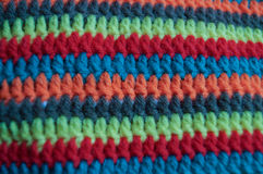 Beautiful crochet design. Crochet background design is art,the color switching so beautiful.It`s handmade or craft .female use cotton to do. Material can use Royalty Free Stock Photo