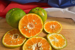 Beautiful cross section of ripe oranges Royalty Free Stock Images