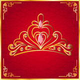 The Beautiful crown in red background Stock Photography