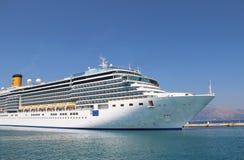 Beautiful cruise ship and blue sea Stock Image