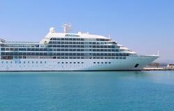 Beautiful cruise ship and blue sea Royalty Free Stock Photo
