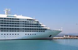 Beautiful cruise ship and blue sea Stock Photo