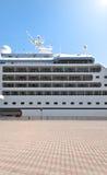 Beautiful cruise ship in harbor Royalty Free Stock Photo