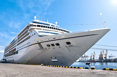 Beautiful cruise ship in harbor Royalty Free Stock Photography