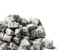Beautiful crushed granite gray on a white background Royalty Free Stock Image