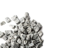 Beautiful crushed granite gray on a white background Royalty Free Stock Images