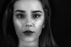 beautiful crying woman Στοκ εικόνα με δικαίωμα ελεύθερης χρήσης