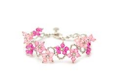 Beautiful crystal bracelet Royalty Free Stock Image
