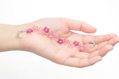 Beautiful crystal Bracelet Stock Photos