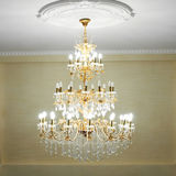 Beautiful crystal chandelier Stock Images