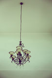 Beautiful crystal chandelier background ( Filtered image processed vintage Stock Photos