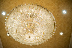 Beautiful crystal chandelier for decoration Stock Photos
