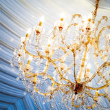 Beautiful crystal chandelier Royalty Free Stock Images