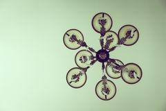 Beautiful crystal chandelier ( Filtered image processed ) Stock Photography