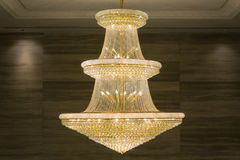 Beautiful crystal chandelier Royalty Free Stock Photos
