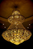 Beautiful crystal chandelier royalty free stock photo