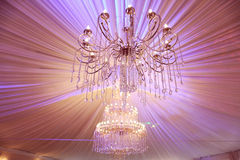 Beautiful crystal chandelier Royalty Free Stock Photography