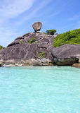 Beautiful crystal clear sea at  Similan island Stock Photography