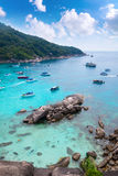 Beautiful crystal clear sea at tropical paradise island, Similan Royalty Free Stock Images
