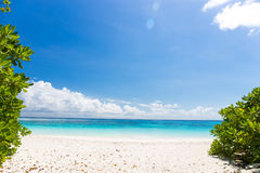 Beautiful crystal clear sea and white sand beach at Tachai island, Andaman Stock Images