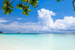 Beautiful crystal clear sea and white sand beach at Tachai island, Andaman Royalty Free Stock Images