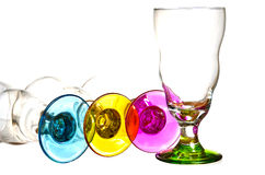 Beautiful Crystal Glassware Stock Photo