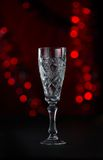 Beautiful crystal goblets for champaign Royalty Free Stock Photography
