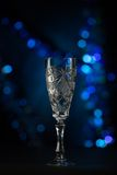Beautiful crystal goblets for champaign Stock Image
