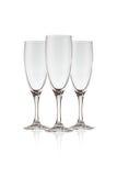 Beautiful crystal wine glass Stock Image