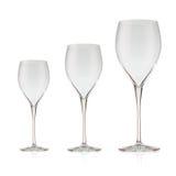 Beautiful crystal wine glass Royalty Free Stock Image