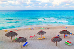 The beautiful cuban beach of Varadero Stock Image
