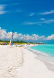 The beautiful cuban beach of Varadero Royalty Free Stock Photos