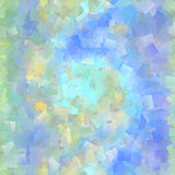 Beautiful cubist mosaic in pastel colors. Yellow, blue and green spectrum royalty free stock images