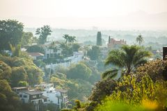 Beautiful Cuernavaca city landscape with houses Royalty Free Stock Photos
