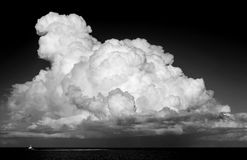 Beautiful cumulus cloud over ocean Royalty Free Stock Image