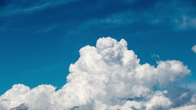 Beautiful Cumulus Clouds on Blue Sky Background Royalty Free Stock Photography