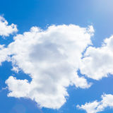 Beautiful cumulus clouds and blue sky - outdoors shoot Royalty Free Stock Photo