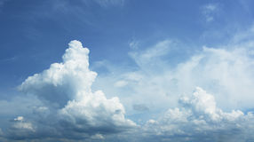 Beautiful cumulus clouds. High-resolution sky panorama Royalty Free Stock Images