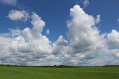 Beautiful cumulus clouds. Royalty Free Stock Image