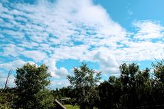 Beautiful cumulus clouds. Royalty Free Stock Images