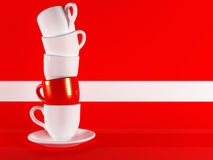 Beautiful cup on background Royalty Free Stock Photos