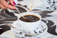 Beautiful cup of coffee Royalty Free Stock Photo