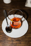 Beautiful Cup of tea. In the cafe Royalty Free Stock Photography
