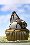 Beautiful cupcake in front of sky Royalty Free Stock Photo