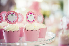 Beautiful Cupcakes. Lovely hand made cupkaces for celebration stock images
