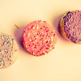 Beautiful cupcakes in retro style Royalty Free Stock Images