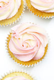 Beautiful cupcakes in shape of roses Stock Image