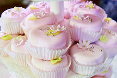 Beautiful cupcakes on wedding table Royalty Free Stock Photo
