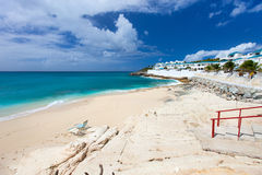 Cupecoy beach on St Martin Caribbean Royalty Free Stock Photo