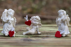 Beautiful cupids figurine Royalty Free Stock Images